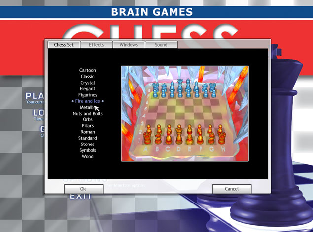 brain games chess: variety of chess sets